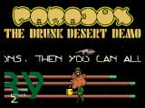 Screenshot Amiga Demo: Paradox | The Drunk Desert Demo